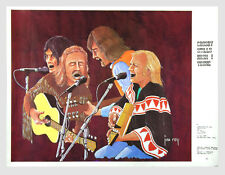 Crosby Stills Nash and Young Poster 1970 Tour Jim Rey 32 x 24.5