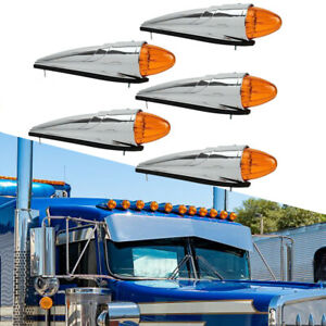 5x 17 LED Amber Top Cab Marker Clearance Roof Running Light For Western Star