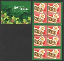 SINGAPORE 2018 FESTIVALS & FOODS (CHRISTMAS) BOOKLET OF 10 STAMPS IN MINT MNH