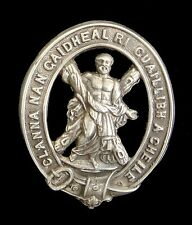 WW1 THE 105TH LANARKSHIRE CAP BADGE OFFICERS SILVER