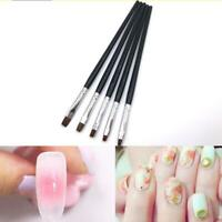 5pcs Nail Art Painting Acrylic UV Gel Salon Pen Flat Brush Set Dotting Sale Y5H5