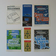Intellivision Intellivoice and Games Manual Lot B17 Bomber Space Spartans Tron