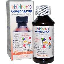 Children's jarabe para la tos, Sabor Cereza-Berry delicioso, 4 fl. OZ (approx. 118.29 ml) (120 Ml) - NatraBio