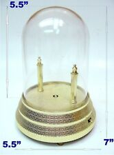 VINTAGE MUSIC BOX MOVEMENT GLASS DOME BASE STAND ROTATING TIP TOY DISPLAY PART