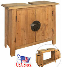 "Bathroom Vanity Cabinet Solid Recycled Pinewood 27.6""x12.6""x24. 8"" Usa Ship"