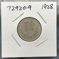 1928 Sweden Silver 50 ORE, KM788 Collectible Coin 372920-9