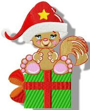 ADORABLE CHIP AT CHRISTMAS  12 MACHINE EMBROIDERY DESIGNS 3 SIZES