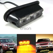 12-24V 3W 3 LED Waterproof Car Truck Emergency Strobe Flash Light Amber 18 Modes