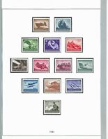 Complete Mounted MNH stamp set / 1944 Military set / Third Reich / WWII Germany