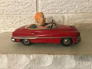 RAre Japanese Tin Howdy Doody Buick. V-1959 Plate CAr