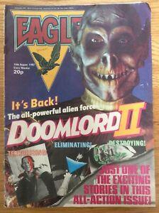 Eagle 14/8/82 Dan Dare, Doomlord, Joe Soap, The Tower King IPC UK comic
