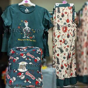 GRINCH Pyjamas, T-Shirt OR Leggings (Choose) Xmas Christmas OFFICIAL Dr Seuss PJ