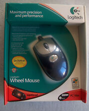 Logitech Wheel Mouse Optical USB or PS2 P/N: 930495-9215 ( New, Factory Sealed )