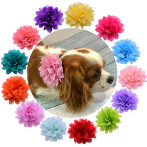 Pet Dog Cat Collar Accessories Dog Flower Charms for Party Wedding Pet Supplies