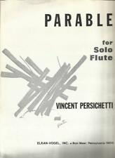 Parable For Solo Flute Sheet Music By Vincent Persichetti Duration 6 m 45s
