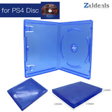 Replacement Case for PS4 Game Disc Spare Blue Game Blu Ray Box Single CD
