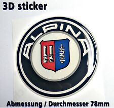 BMW Alpina 3D-Logo-Aufkleber für Hintertür 78mm