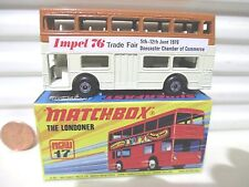 "Lesney Matchbox MB17B 1972 ""The Londoner"" Cream + Brown IMPEL 76 Bus Mint Boxed"