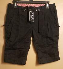 Ashley Woman's Cotton Bermuda Short Pants Black Size M NEW!