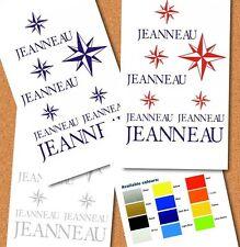 JEANNEAU PLAN STICKERS POUR BATEAU (a Choisir Couleur)