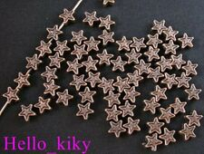 500 pcs Antiqued copper plt star spacer beads A218