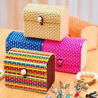 Fashion Bamboo Case Jewelry Organizer 1PC Debris Box Design Holder Jewelery Box