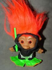 "Troll Doll 5"" Teasure Ace Novelty Scuba Diver Jewely Belly Orange Hair"