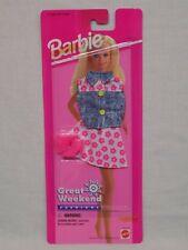 New Nip 1995 Mattel Barbie Great Weekend Fashions 68014-92 Pink Flower Skirt