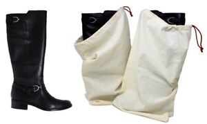 Earthwise Boot Shoe Bag 100% Cotton MADE IN THE USA Natural Color (Set of 2)