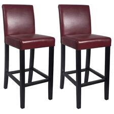 """NEW!  WOOD/LEATHER BARSTOOL - 29"""" BAR/COUNTER STOOL - KENDALL-SET OF 4 - RED"""