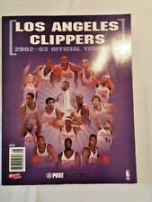 Los Angeles LA Clippers 2002 2003 Official Team Yearbook NBA Basketball