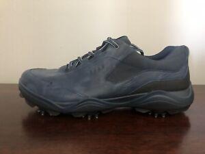 ECCO Strike Spikes Golf Shoes Gore Tex Men's Size 11-11.5 (EU 45) Blue