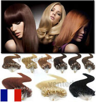 50 100 150 EXTENSIONS DE CHEVEUX POSE A FROID EASY LOOP NATURELS REMY 53CM AAA+