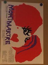 70ER JAHRE PLAKAT FASCHING MÜNCHEN HAUS DER KUNST MONTMARTRE ENTWURF:HRUBY 1970