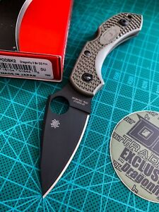 Spyderco DLT Exclusive Dragonfly - OD Green Scales - Black Cruwear (SOLD OUT)