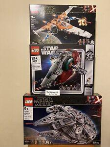 Lego Star Wars Bundle Millennium Falcon 75257, Slave 1 75243, Poe's X-wing 75243