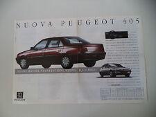 advertising Pubblicità 1992 PEUGEOT 405