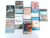 Lot of 9 Classic Rock Cassette Tapes Beatles The Who Supertramp Zeppelin & More