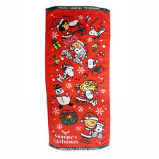 SNOOPY'S CHRISTMAS UNIVERSAL STUDIO JAPAN FACE TOWEL NEW YEAR GIFT FREE SHIPPING