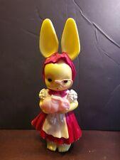 Vintage Knickerbocker Plastic Easter Bunny Rabbit Bank Glasses 11�
