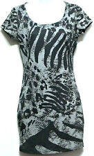 XXI Ladies Two Tone Gray Print Polyester Rayon Stretch Dress - Size Small (4-6)