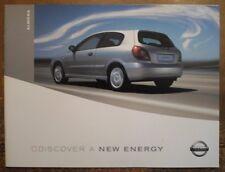 NISSAN ALMERA orig 2002 2003 UK Mkt Prestige Sales Brochure - S SE SVE