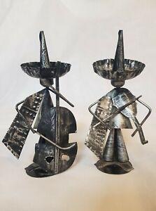 Ornamental Tin Mexican Musician Duo