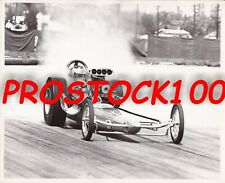 "DON PRUDHOMME-""HAWAIIAN"" TOP FUEL DRAGSTER  BLACK & WHITE PHOTO"