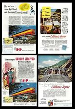 Railroads. Advertising from old Magazines (two sides). California Zephy (L.#13)