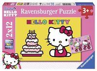 Ravensburger Puzzle Puzzle Kinderpuzzle Hello Kitty feiert Geburtstag 2x12 Teile