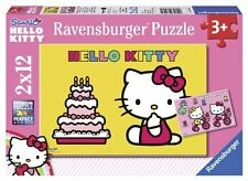 Ravensburger Puzzle Children's jigsaw Hello Kitty feiert Birthday 2x12 Pieces