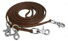 Showman 11' Harness Leather Draw Reins w/ Scissor Snaps!! NEW HORSE TACK!!