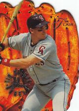 """1994 Fleer Flair """"Hot Gloves"""" diecut Tim Salmon baseball card"""