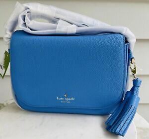 KATE SPADE New York Orchard Street Blue Leather Handbag Bag w dust cover NEW